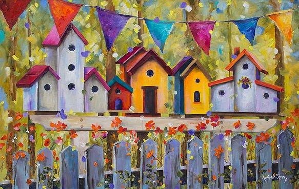 Feria en casa Oleo sobre tela Técnica mixta 80 x 50 cm