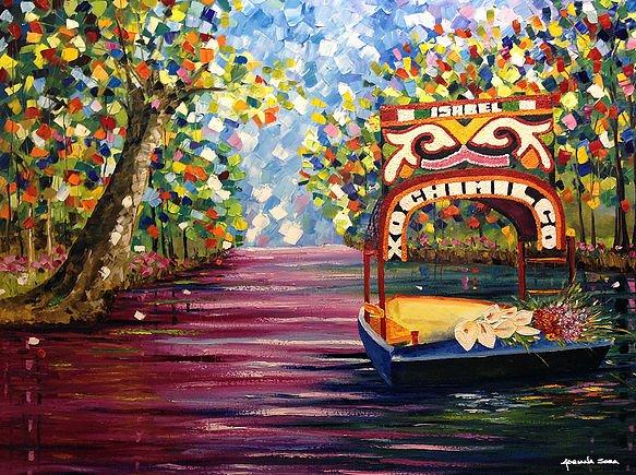 Isabel Oleo sobre tela Técnica espátula 120 x 100 cm | Enmarcado: 134 x 154 cm