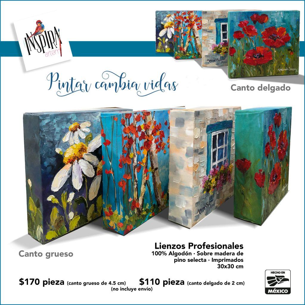 Lienzo 30 x 30 mexicano InspiraArtem Adriana Sosa arte