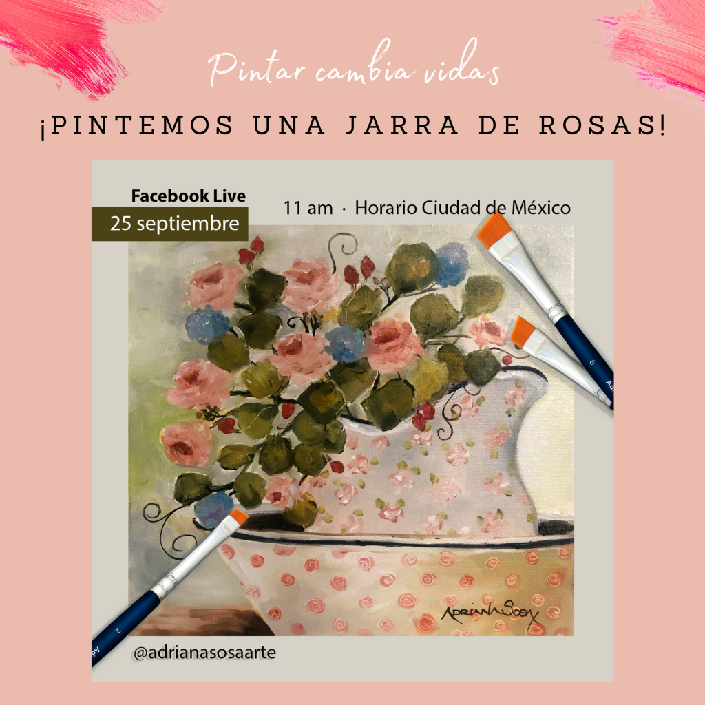 Jarra de Rosas InspiraArtem de Adriana Sosa