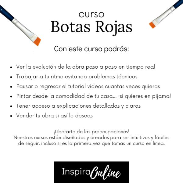 Inspira Online - Clases de pintura en linea - cursos de pintura al óleo - Botas Rojas
