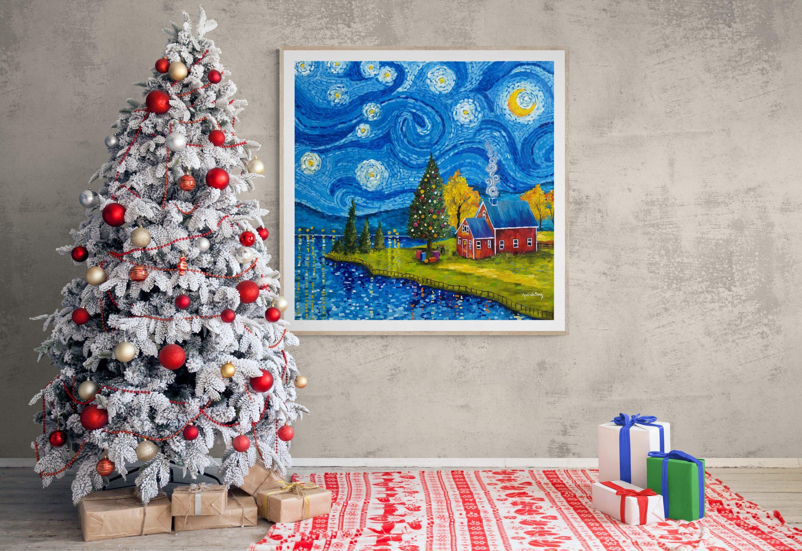 Arbol con Navidad con Vincent